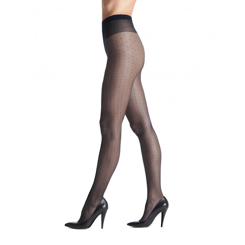 Adelle tights polka dot 20 den adelle blac black