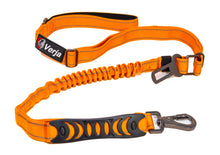 Load image into Gallery viewer, Dog Leash with Padded Handle, Multifunctional Dog Leashes for Medium & Large Dogs with Car Seat Belt, Reflective Threads, 4-6 FT Bungee Dog Leash - Orange