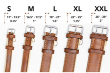 Load image into Gallery viewer, Riparo Genuine Leather Padded Dog Collar - Camel