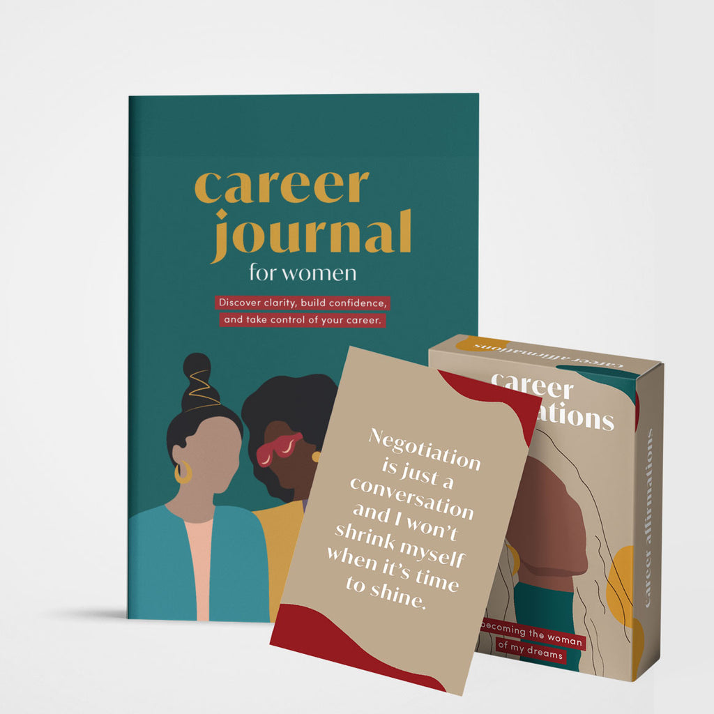 Career Journal + Affirmation Cards Bundle