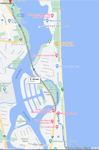 Skate Street Southport to Surfers Paradise Skate Map