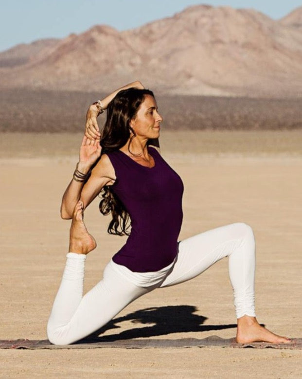 Divine Yogini Kia Miller is wearing Purple.