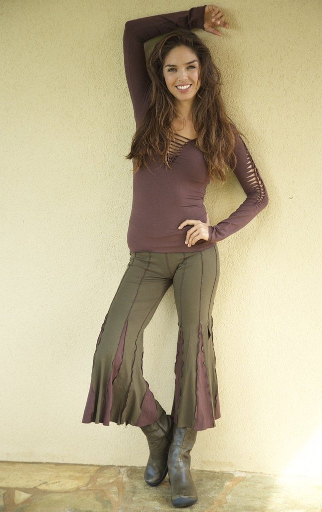 STAR-DANCER CAPRI PANTS Solid Color & 2 Tone