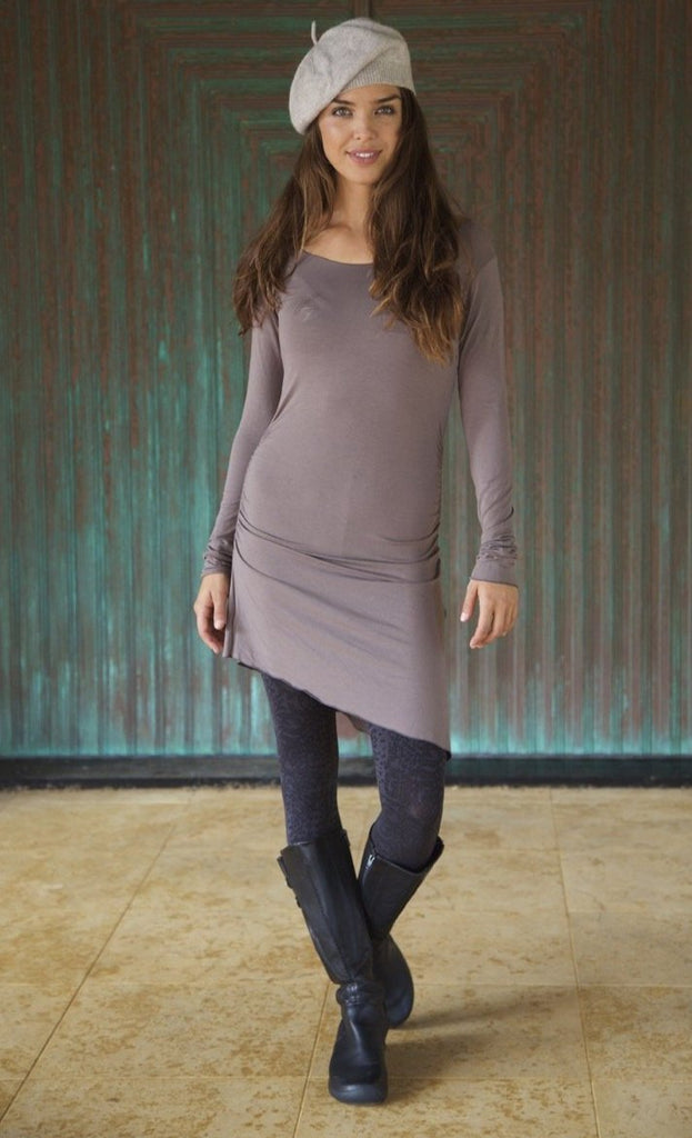 ASYMMETRICAL TUNIC WITH LONG SLEEVES - Winter Special! 20% OFF!