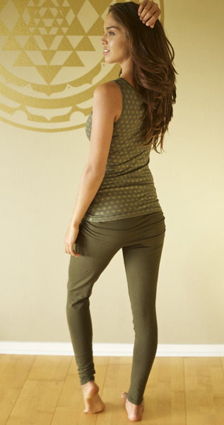 Dharma Leggings Olive Back