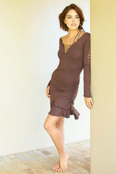 RUFFLE DRESS WITH LONG SLEEVES - Autumn Special! 20% OFF!