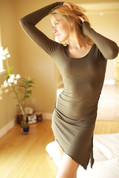ASYMMETRICAL TUNIC WITH LONG SLEEVES