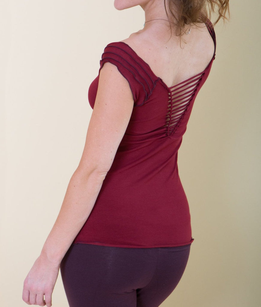 SAMADHI TOP WITH LACING - Fall Special! 20% OFF!