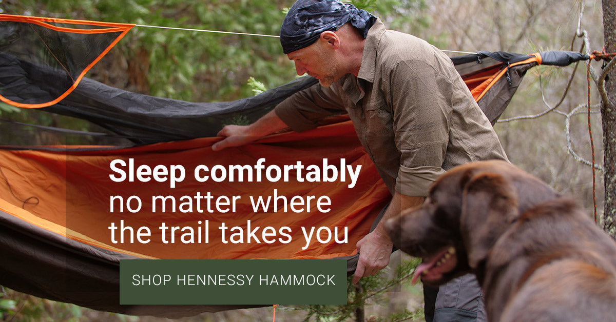 Sleep comfortably no matter where the trail takes you - Shop Hennessy Hammock
