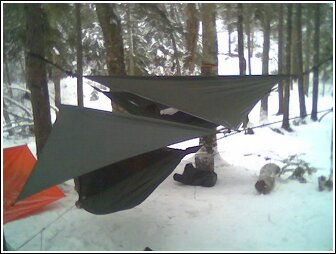 hammocks in the snow