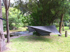 hammock by stream