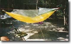 Tom's first prototype hammock