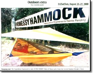 photo of a hennessy hammock from usa today