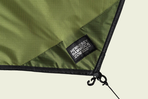 Odds & Ends - Olive Green Rectangular Silnylon Rainfly - New