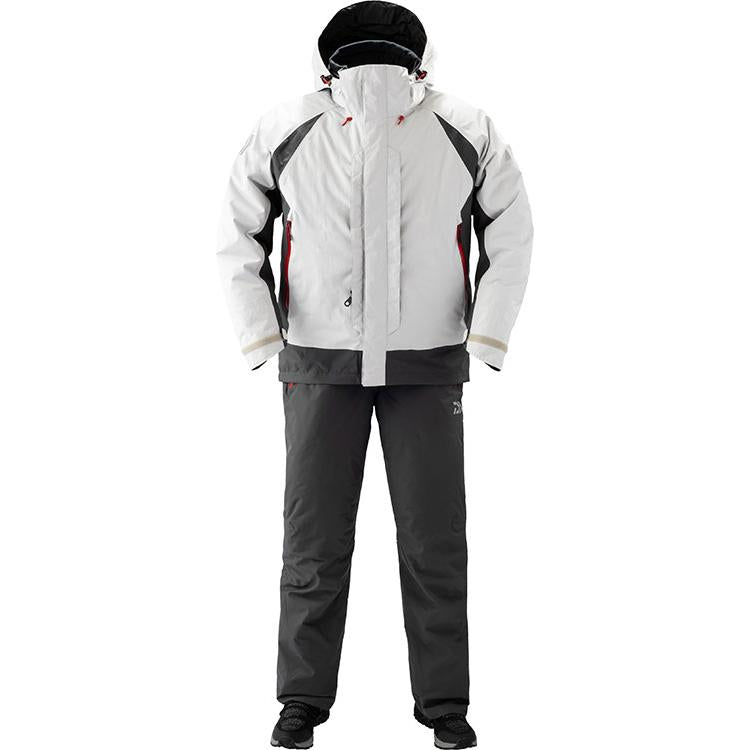 Daiwa DW-3409 Rain Max Hyper Combi Up Winter Suit M Light Gray 4550133012358