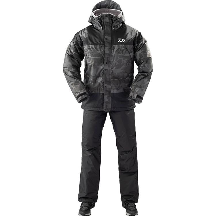 Daiwa DW-35009 Rain Max Winter Suit 3XL Black Camo 4550133012853