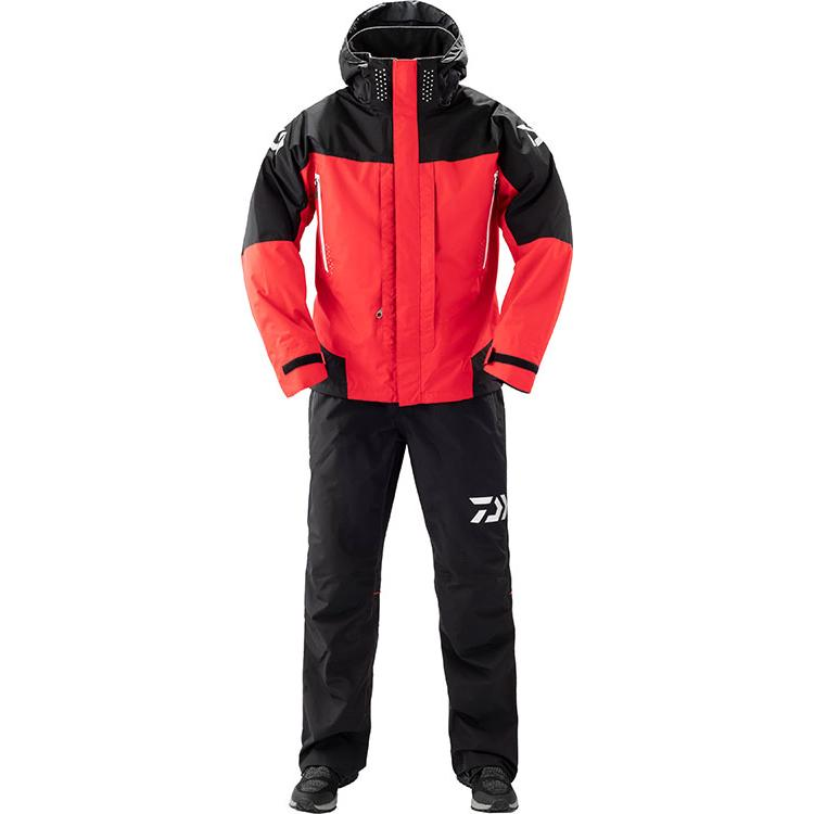 Daiwa DR-31109 Rain Max Combi Up Rain Suit L Red 4550133013232