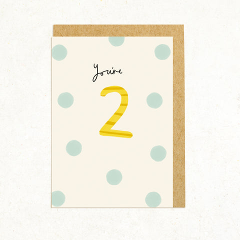 Age 2 greeting card
