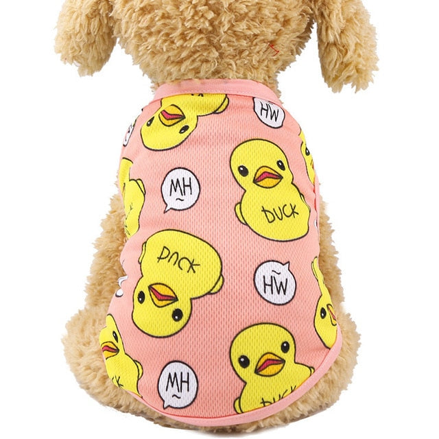 Cartoon Dog Shirt Summer Small Dog Clothes