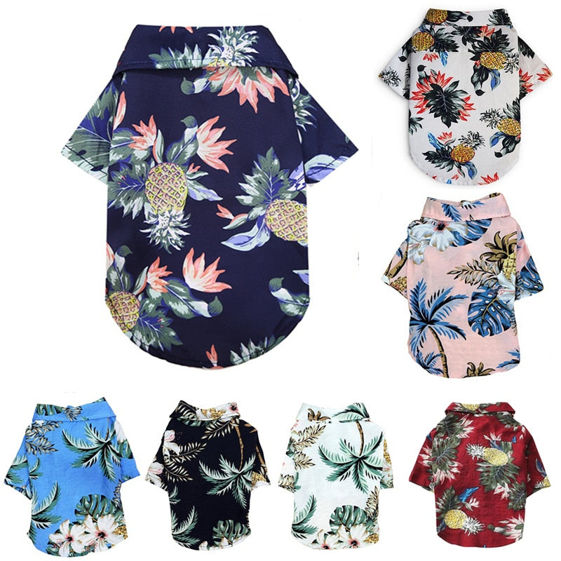Summer Pet Printed Clothes For Dogs
