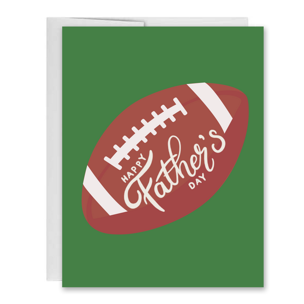 Fathers Day Football Greeting Card 1