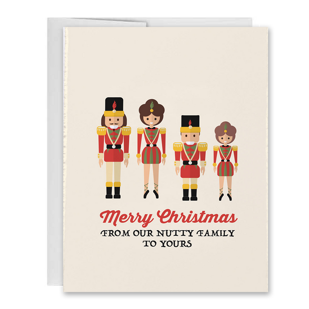 Merry Christmas From Our Nutty Family To Yours Holiday Greeting Card 1