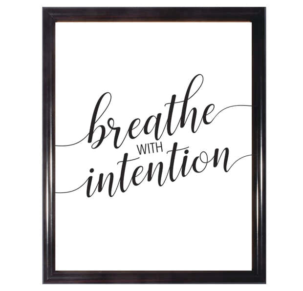 Breathe With Intention Poster 1