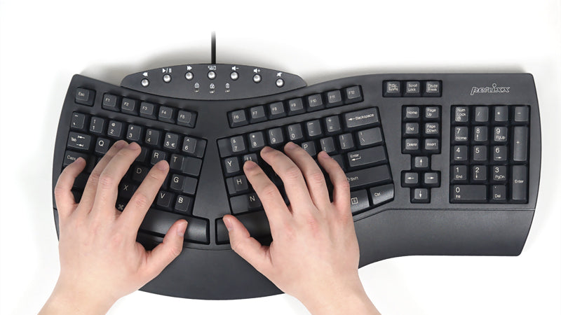 Wired Ergonomic Black Keyboard