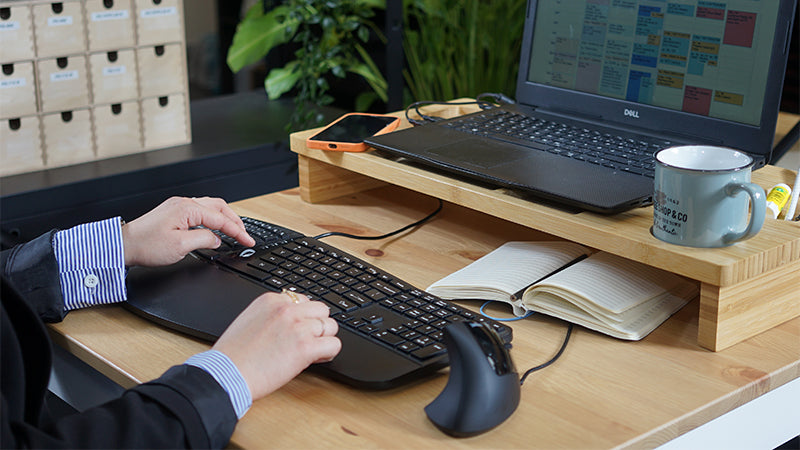 All-in-One Ergonomic Keyboard and Mouse Combo