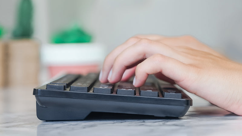 Easier Typing With Spaced Keys