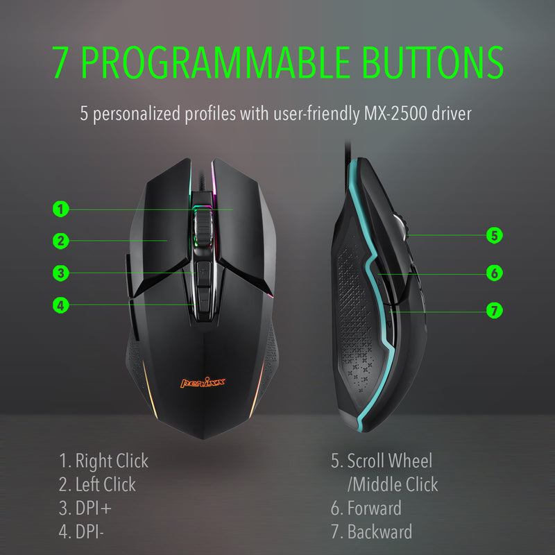 MX-2500B Programmable Gaming Mouse