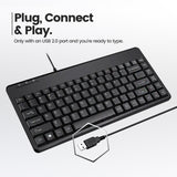 PERIBOARD-409 H - Mini Keyboard + Hubs