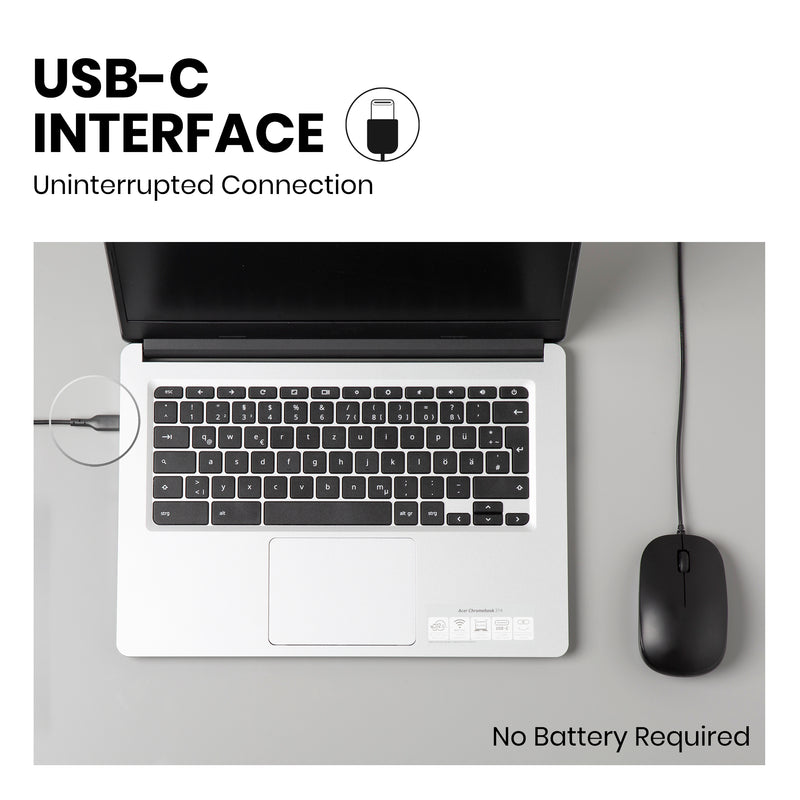 PERIMICE-201 C - Wired USB-C Mouse