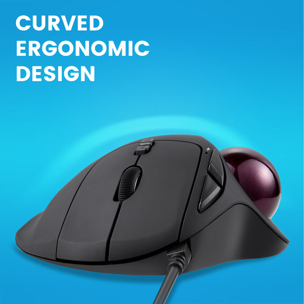 PERIMICE-517 - Ergonomic Trackball Mouse