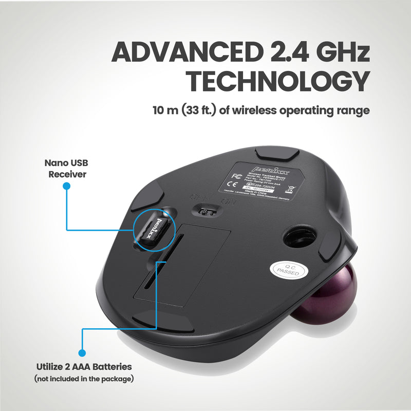 PERIMICE-717 - Ergonomic Trackball Mouse