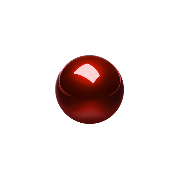 PERIPRO-304 GLR- Glossy Red 55 mm Trackball