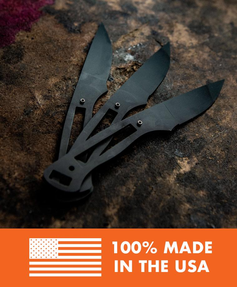 Made In USA - Made In Montana - Montana Knife Company - 3 unfinished knife blades