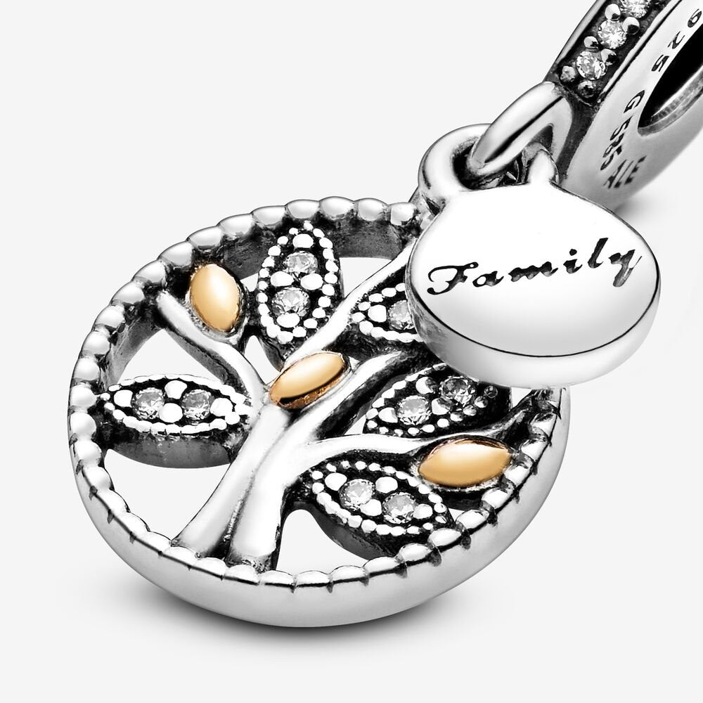 Sparkling Family Tree Charm Anhänger