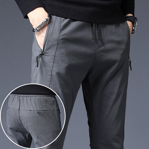Brand Men Pants Casual Mens Business Male Trousers Classics Mid weight cotton Straight Full Length Fashion Pant plus size 38 40