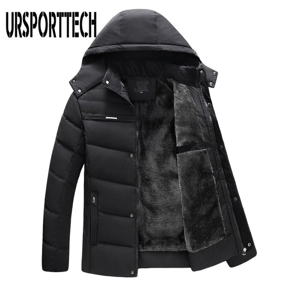 Winter Jacket Men Parka 2020 New Fashion Thicken Hooded Waterproof Outwear Warm Coat Fathers' Clothing Casual Men's Overcoat 4XL