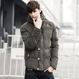 URSPORTTECH New Winter Men Parka Jacket Mens Thick Warm Cotton Hooded Fashion Jacket Brand Clothing Casual Parka Male