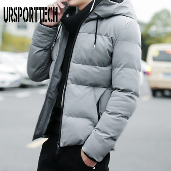 High Quality Winter Jacket Men 2020 Fashion Male Parka Jacket Mens Solid Thick Jackets and Coats Man Winter Parkas Plus Size 4XL