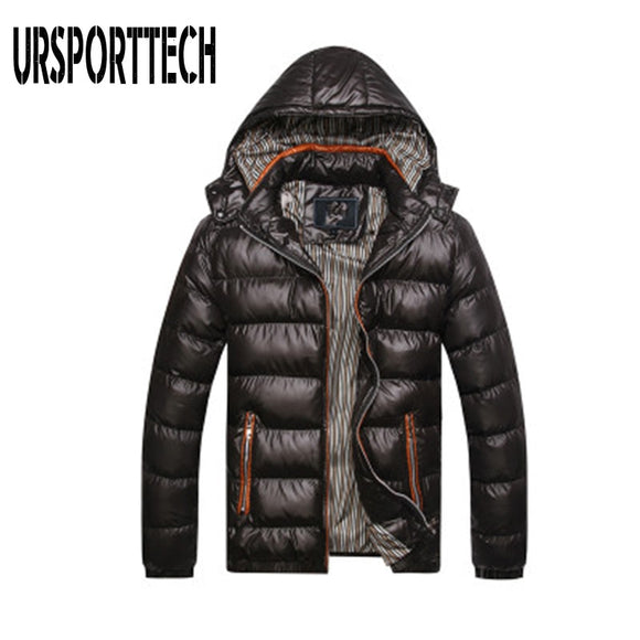 High Quality Winter Jacket Men 2019 Fashion Male Parka Jacket Mens Solid Warm Jackets and Coats Man Winter Parkas Plus Size 5XL