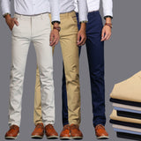 6 Colors 2020 New Spring and Summer Men's Slim Casual Pants Fashion Business Cotton Brand Thin Trousers Classic Style