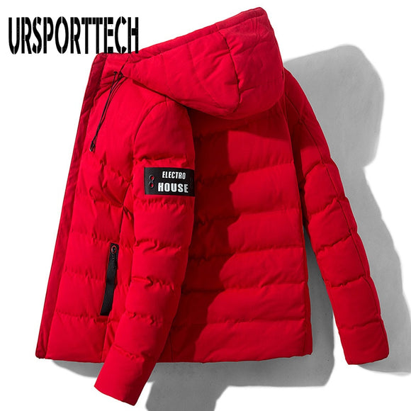 URSPORTTECH Winter Parka Hombre Men's Jacket 2020 New Cotton Padded Puffer Jackets Men Fashion Tops Outerwear Coat Bomber Jacket