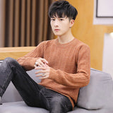 2020 hot  men's sweater spring and autumn new casual Korean trend personality handsome round neck sweater