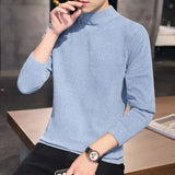 2020 New Fashion Men's Sweaters Casual O-Neck Lingge Solid Color Knitted Crochet Pullovers For Male Winter Man