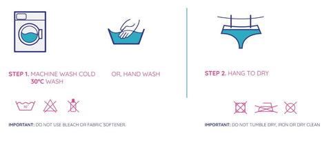 How to wash period knickers