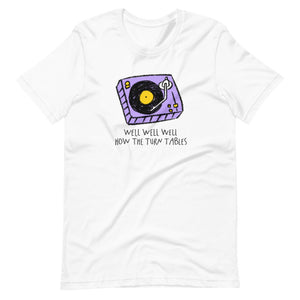 Turn tables unisex tee
