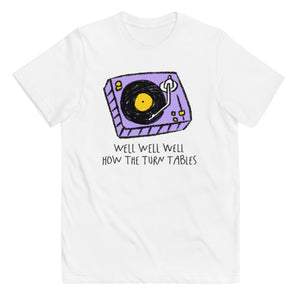 Turn tables kids tee